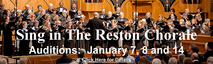 Auditions- The Reston Chorale